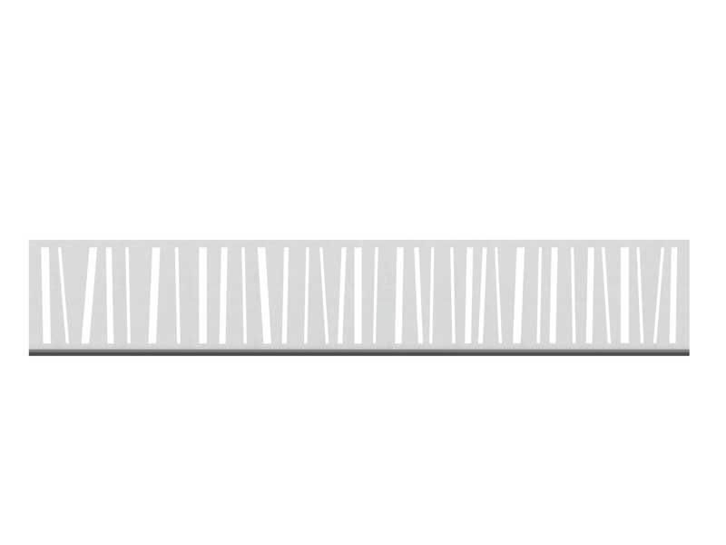 TraumGarten SYSTEM Dekorprofil-Set Linea silber Edelstahl /flach 30 cm