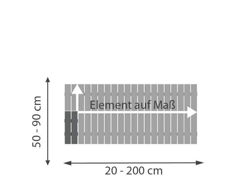 TraumGarten Vorgartenzaun SQUADRA Anthrazit Aluminium - Vorgartenzaun auf Maß 20-200 x 50-90 cm