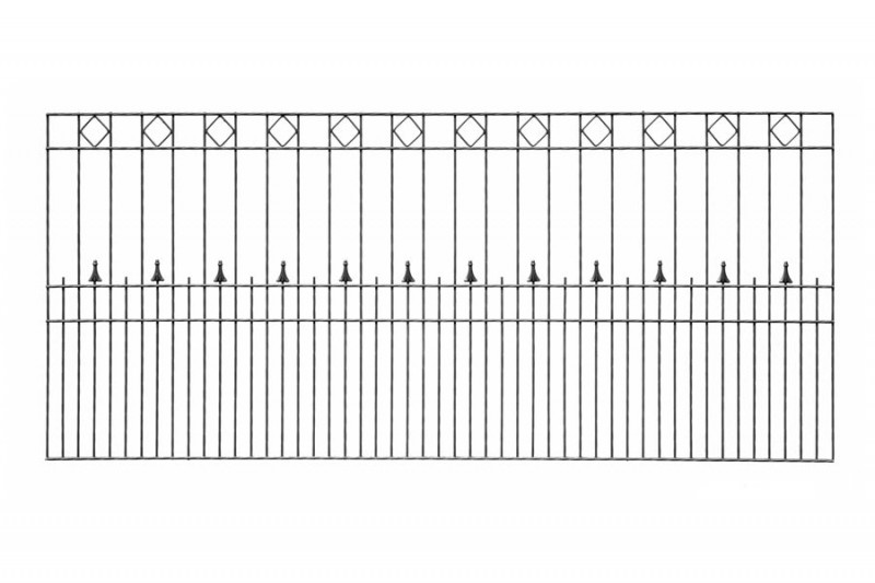 Schmuckzaun Rezidenz exklusiv Paris RAL 7016 anthrazit - Höhe : 808 mm