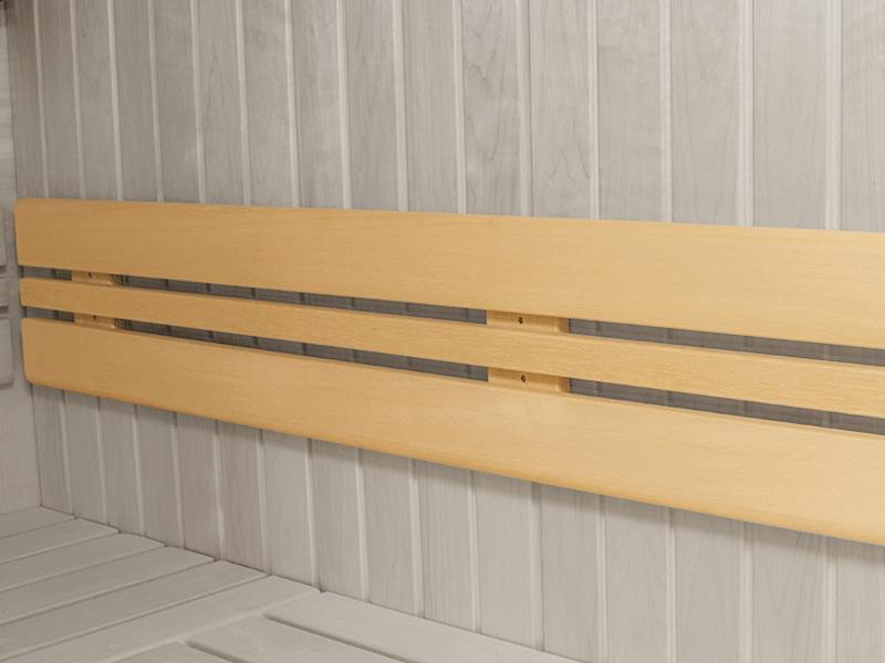 """Elementbausauna Norway 0 """"Mini"""" - 70mm von Garten-Freunde - 4-Eck Sauna Fronteinstieg - 130 x 130 x 198 cm"""