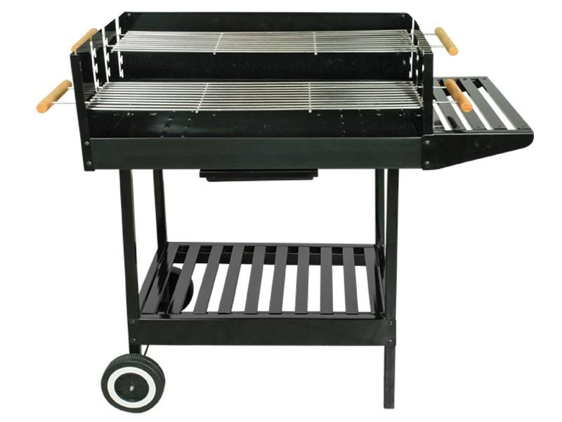 Grillwagen Ventus - Stahl schwarz - Holkohlegrill Gartengrill