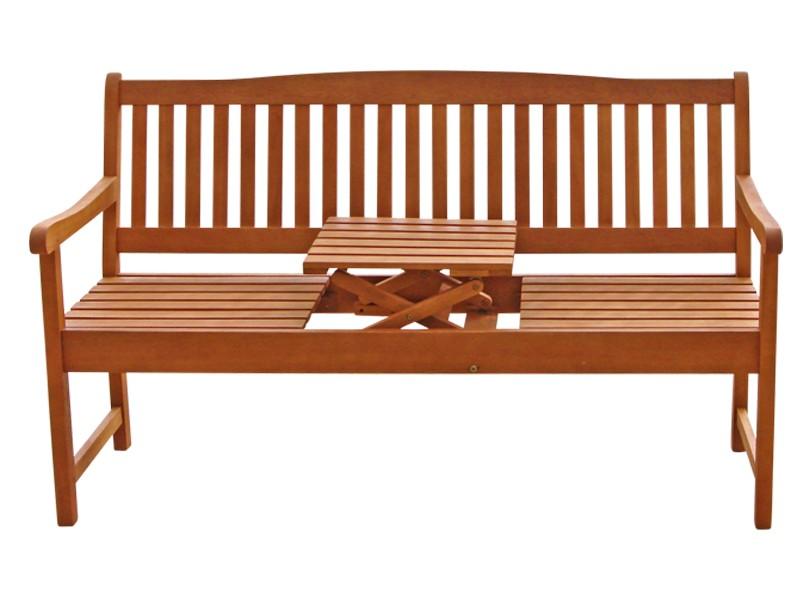 Gartenmöbel Gartenbank 3-Sitzer Sun Flair aus Eukalyptus