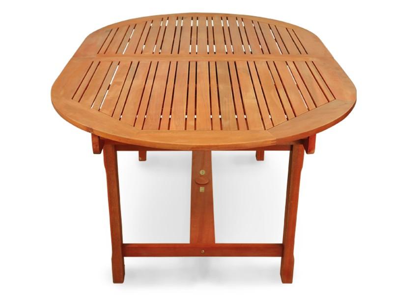 Gartenmöbel Gartentisch/Esstisch Sun Flair aus Eukalyptus - 170 / 220 cm lang