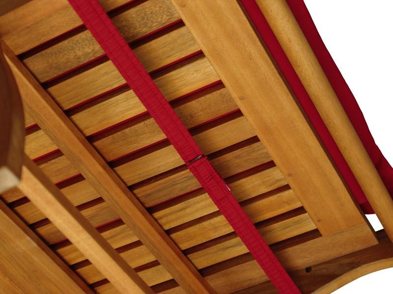Gartenmöbel Liegenauflage Premium extra dick - Farbe: rot