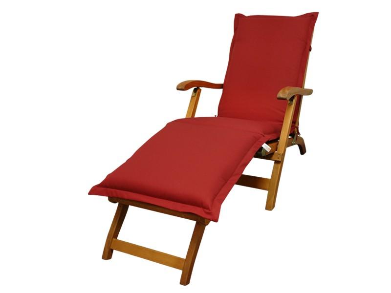 Gartenmöbel Polsterauflage Deck Chair Premium extra dick - Farbe: rot