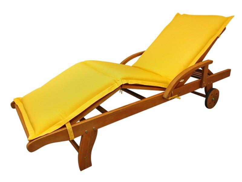 Gartenmöbel Liegenauflage Premium extra dick - Farbe: gelb