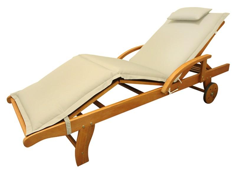 Gartenmöbel Kopfkissen Premium extra dick - Farbe: beige