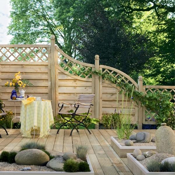 Fabulous TraumGarten Sichtschutzzaun Holz Komplettset aus Serie XL NO52