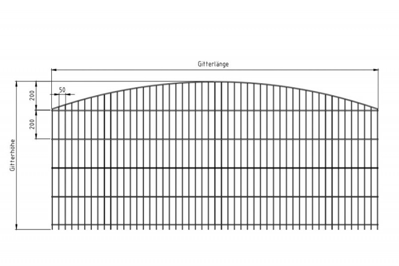 Schmuckzaun Rezidenz Sydney RAL 6005 moosgrün - Gitterhöhe: 1206mm