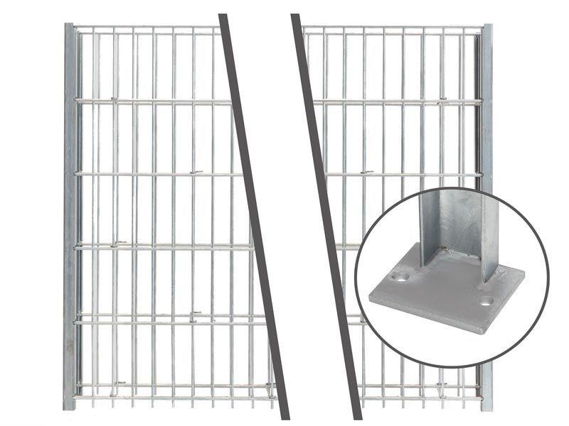 Gabionen Pfosten - Set SAPHIR / C - Profil -RAL 7016 anthrazit - Pfostenhöhe: 1245 mm