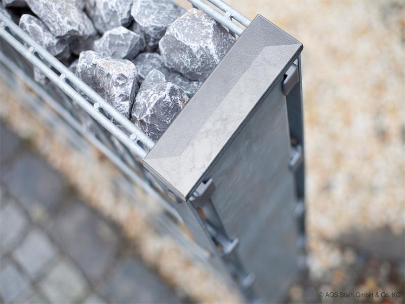 Gabionen Doppelpfosten Typ DPAA: feuerverzinkt - Pfostenlänge: 2000mm