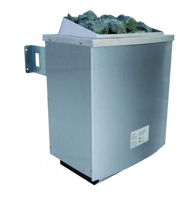 Karibu Multifunktionsauna 68 mm Systemsauna Ava inkl. 9 kW Saunaofen und 2 Strahlern - Eckeinstieg