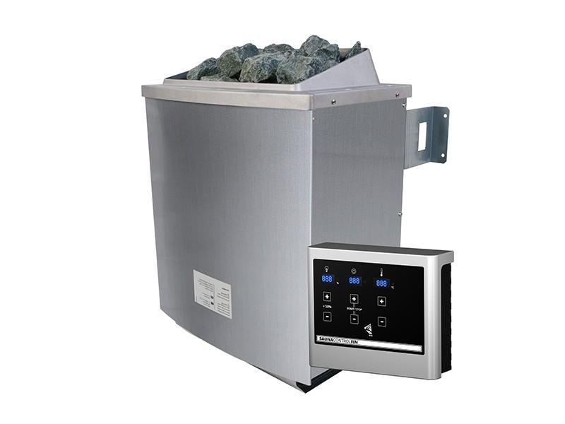 Karibu Saunaofen 4,5 kW finnisch inkl. Steuergerät Easy finnisch + 18 kg Diabas-Steinen