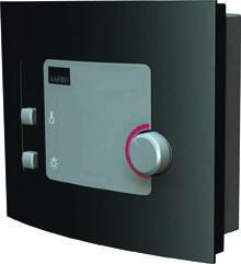 Woodfeeling 38 mm Massivholz Sauna Sandra Classic  inkl. Ofen 3,6 kW externe Steuerung - für niedrige Räume