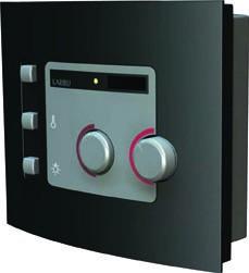 Woodfeeling 38 mm Massivholz Sauna Antonia Classic  inkl. Ofen 3,6 kW Bio externe Steuerung mit Dachkranz - für niedrige Räume