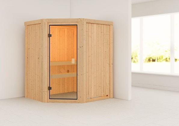 Woodfeeling 68 mm Massivholz Sauna Faurin Classic ohne Ofen