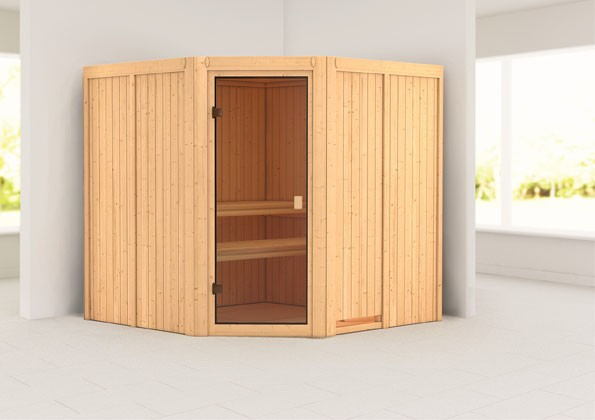 Woodfeeling 68 mm Systembau Sauna Kotka Classic ohne Ofen