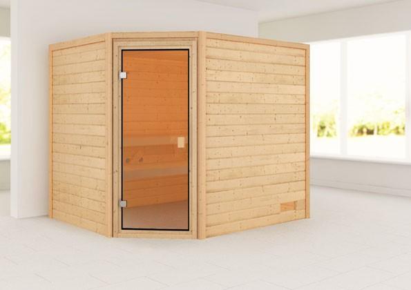 Woodfeeling 38 mm Massivholz Sauna Lisa Classic ohne Ofen