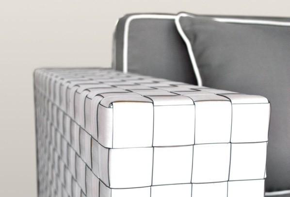 Rattan Loungeelement Espace Premium Sessel inkl. Kissen - Farbe: Cremeweiß