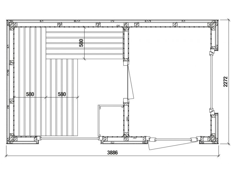 Infraworld Außensauna Luna 2 - Außenverkleidung mit HPL-Platten - mit Vorraum