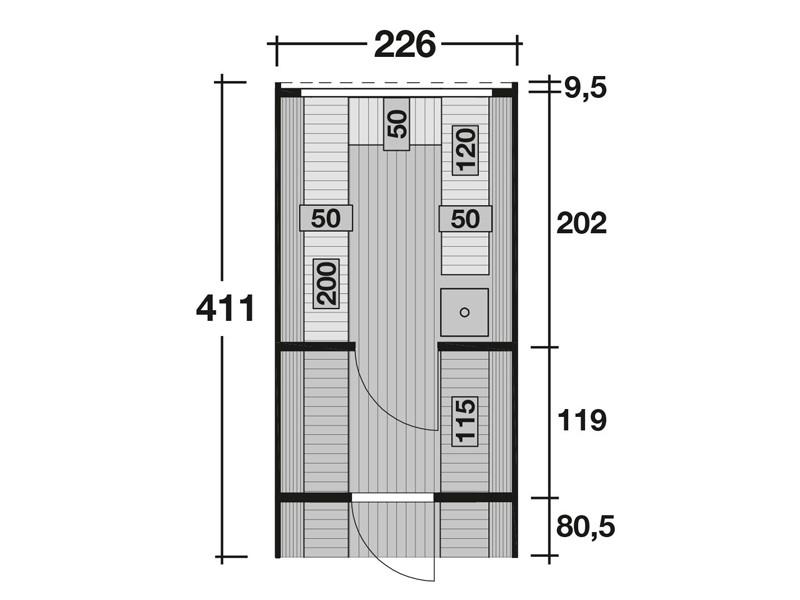 Wolff Finnhaus Saunafass Premium Svenja 2 Bausatz inkl. schwarzer Schindeln ohne Ofen - Maße: Ø 240 x 411 cm - naturbelassen