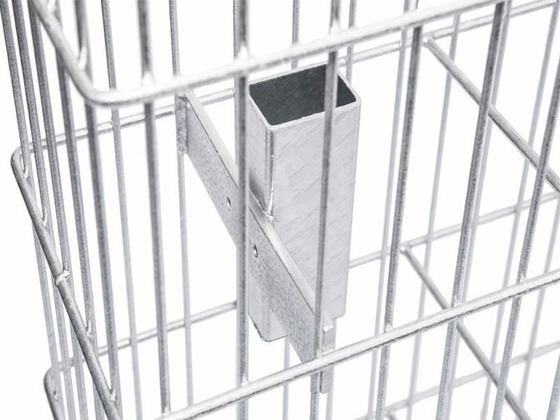 Gabionen-Korb JUMBO silbergrau verzinkt - Höhe: 1008 mm Breite 1000mm