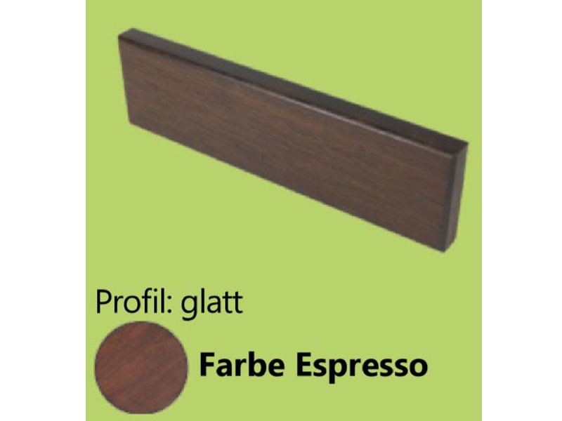 aMbooo  Abschlussbrett Terrasse, Espresso, 1860x70x20 mm, vorgeölt