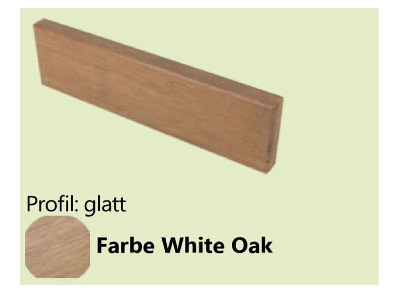aMbooo  Abschlussbrett Terrasse, White Oak, 2200 x 70 x 20 mm, vorgeölt
