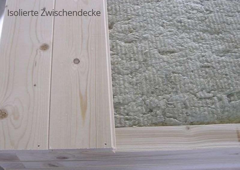 Wolff Finnhaus 40 mm Saunahaus Melina 40 B Pultdach - naturbelassen - mit Vorraum