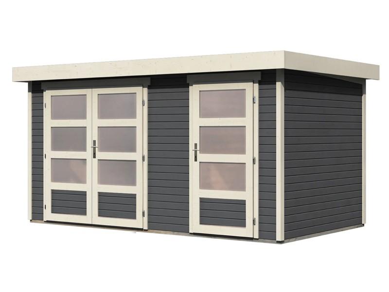 Wolff Finnhaus 19mm Gartenhaus Zeeland - Aktionsmodell inkl. gratis Dacheindeckung - Zweiraum-Gartenhaus