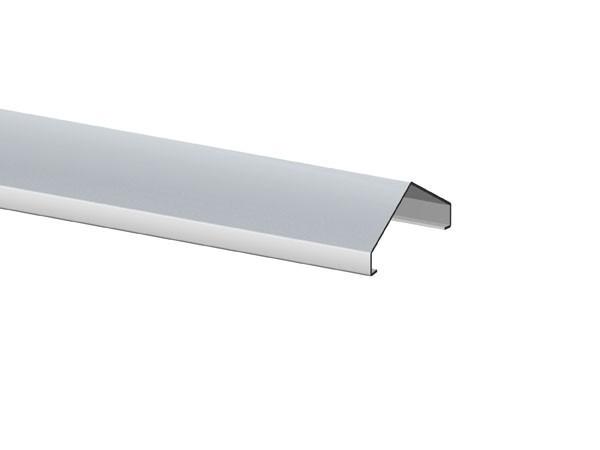 TraumGarten Aufsatzleiste Aluminium für gerade Elemente Longlife - 6 x 180 cm