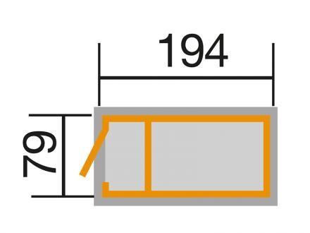 Weka Profi Hochbeet, 19 mm, lasiert mit Geräteschrank