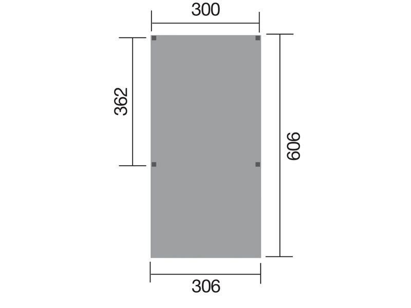 WEKA Einzelcaprot Y-Carport 612 - ohne Dacheindeckung - kdi