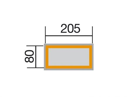 Weka Profi Hochbeet 669 C, 28 mm, grau/weiss