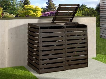 Weka Mülltonnenbox für 2 Tonnen, anthrazit