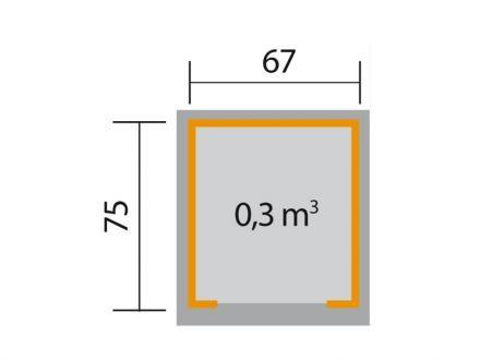 Weka Mährobotergarage 367, grau/weiss