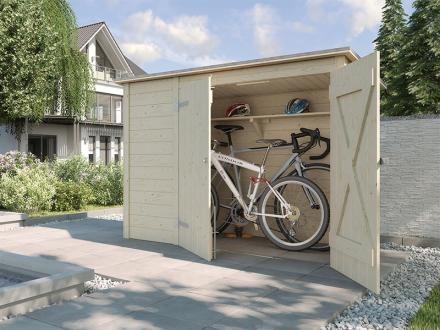 Weka Fahrrad-/Mülltonnenbox, natur