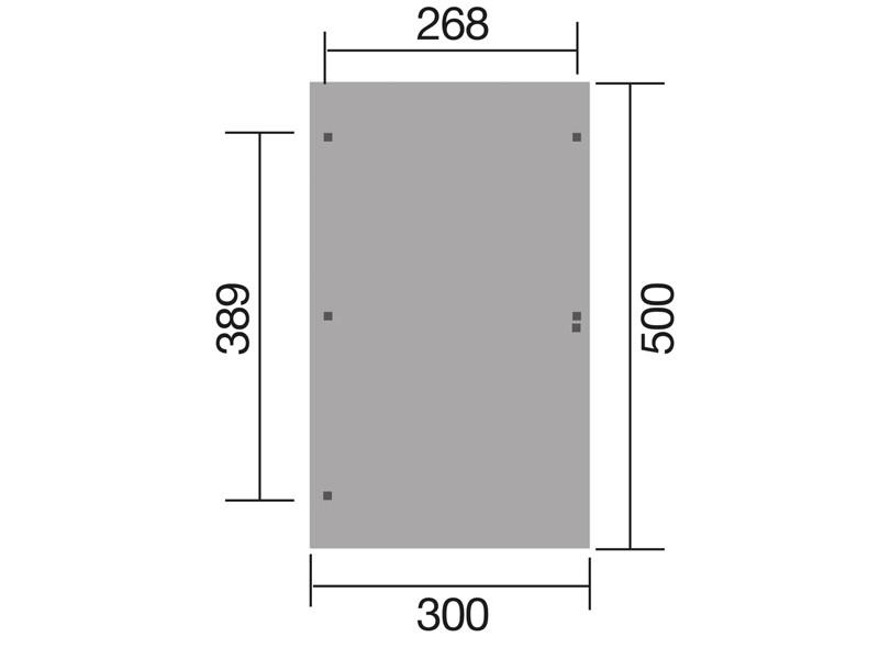 WEKA Einzelcarport 606 A Gr.2 mit Rundbogen - mit PVC Kunststoffdach