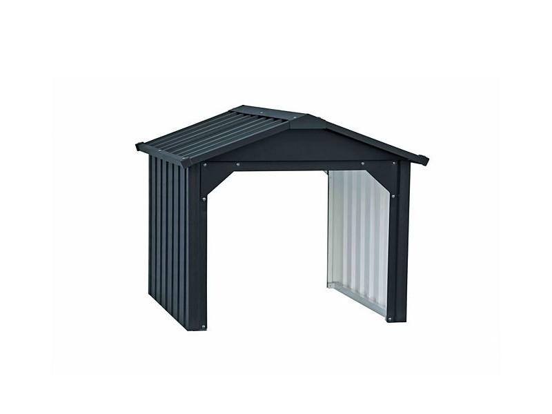 Tepro Mähroboter-Garage aus Metall anthrazit