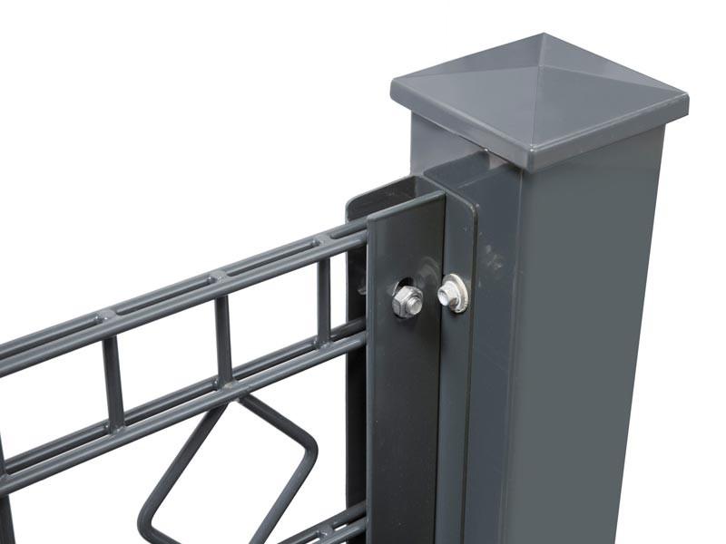 Zaunanschlussleisten Set Typ WL RAL 6005 moosgrün - Zaunhöhe : 1230 mm