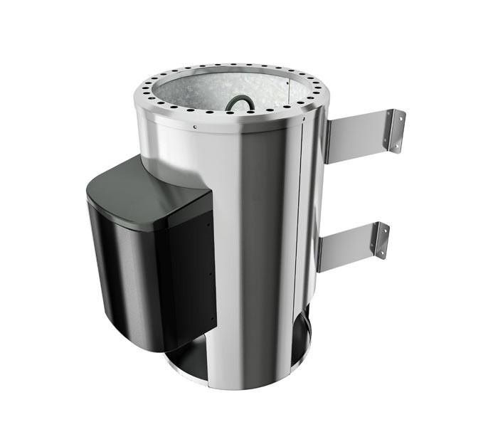 Karibu Plug&Play Saunaofen mit Außensteuergerät Easy Finnisch 3,6 kW (230Volt) inkl. 18 Kilo Steinen