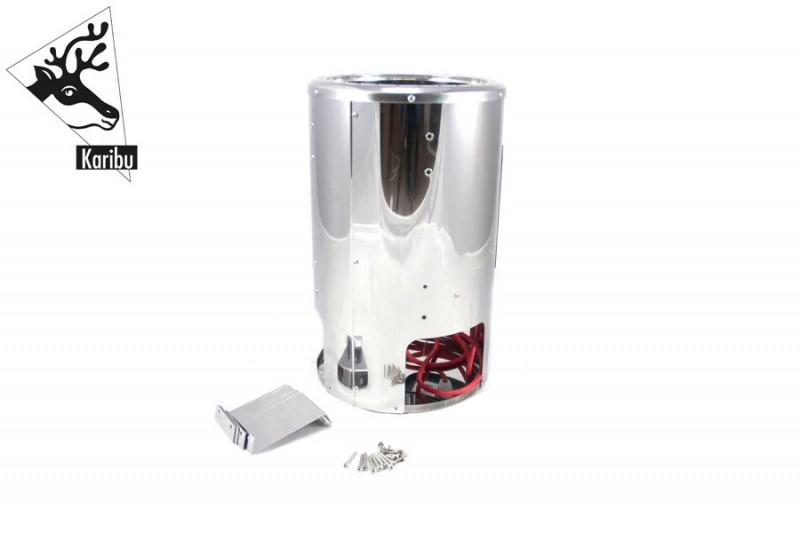 Karibu Plug&Play Saunaofen mit elektronischer Außensteuerung. 3,6 kW (230Volt) Steuergerät Easy Finnisch inkl. 20 Kilo Steinen