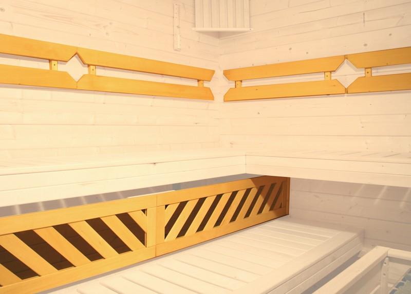 Sparset: WEKA 58mm Massivholzsauna Premium Sauna Terra Eck - Komplettset inkl. 7,5 kW Bio-Aktiv Ofenset-Classic und Fensterelement