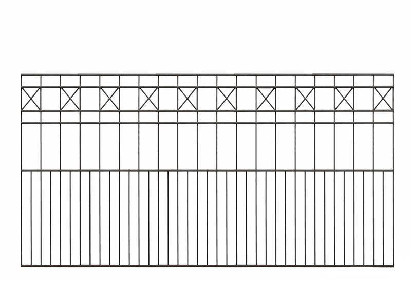 Schmuckzaun PISA RAL 7016 anthrazitgrau - Höhe: 810mm Länge: 2000mm