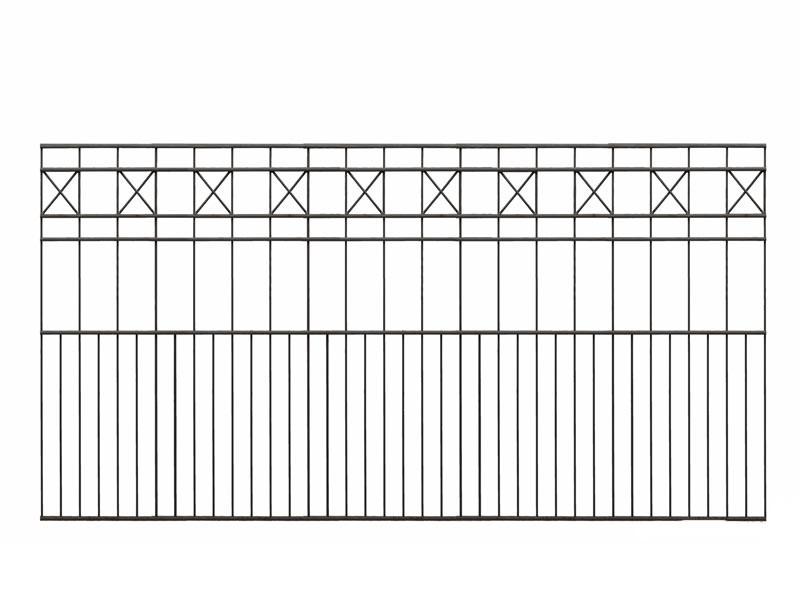 Schmuckzaun PISA RAL 7016 anthrazitgrau - Höhe: 1010mm Länge: 2000mm