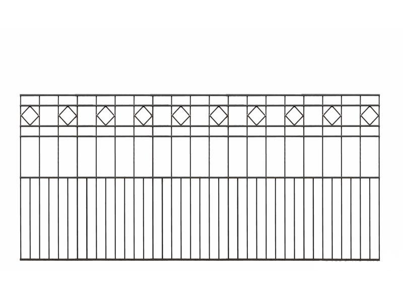 Schmuckzaun TURIN RAL 7016 anthrazitgrau - Höhe: 810mm Länge: 2000mm