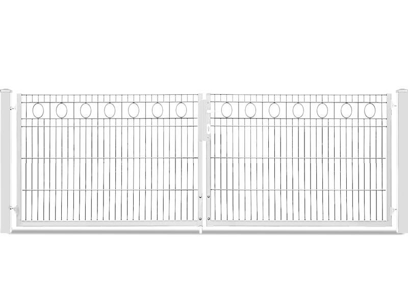Schmucktor Vario Rezidenz Rom 2-flügelig silbergrau verzinkt - Torhöhe: 800 mm