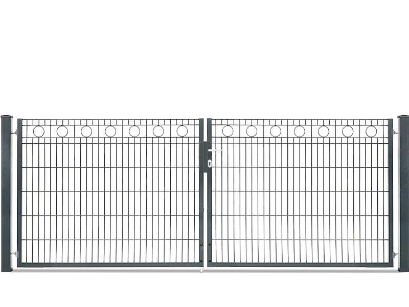 Schmucktor Vario Rezidenz Rom 2-flügelig RAL 7016 anthrazit - Torhöhe: 1000 mm
