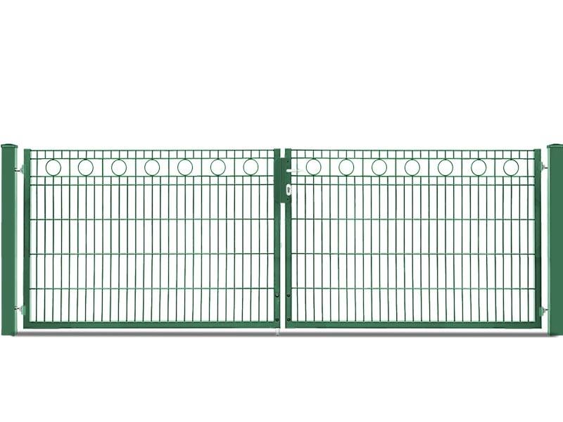 Schmucktor Vario Rezidenz Rom 2-flügelig RAL 6005 moosgrün - Torhöhe: 1200 mm