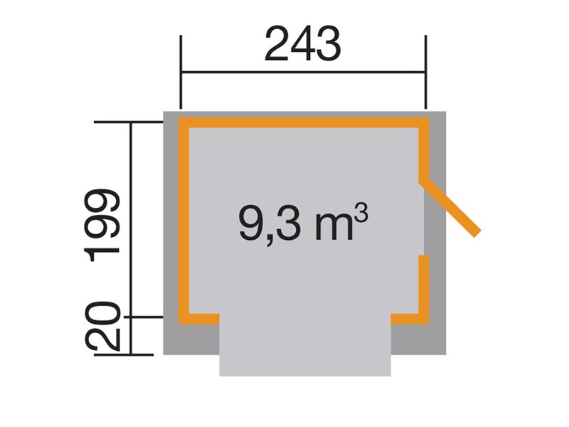 WEKA Verkaufshaus 221, 19 mm, ohne Boden